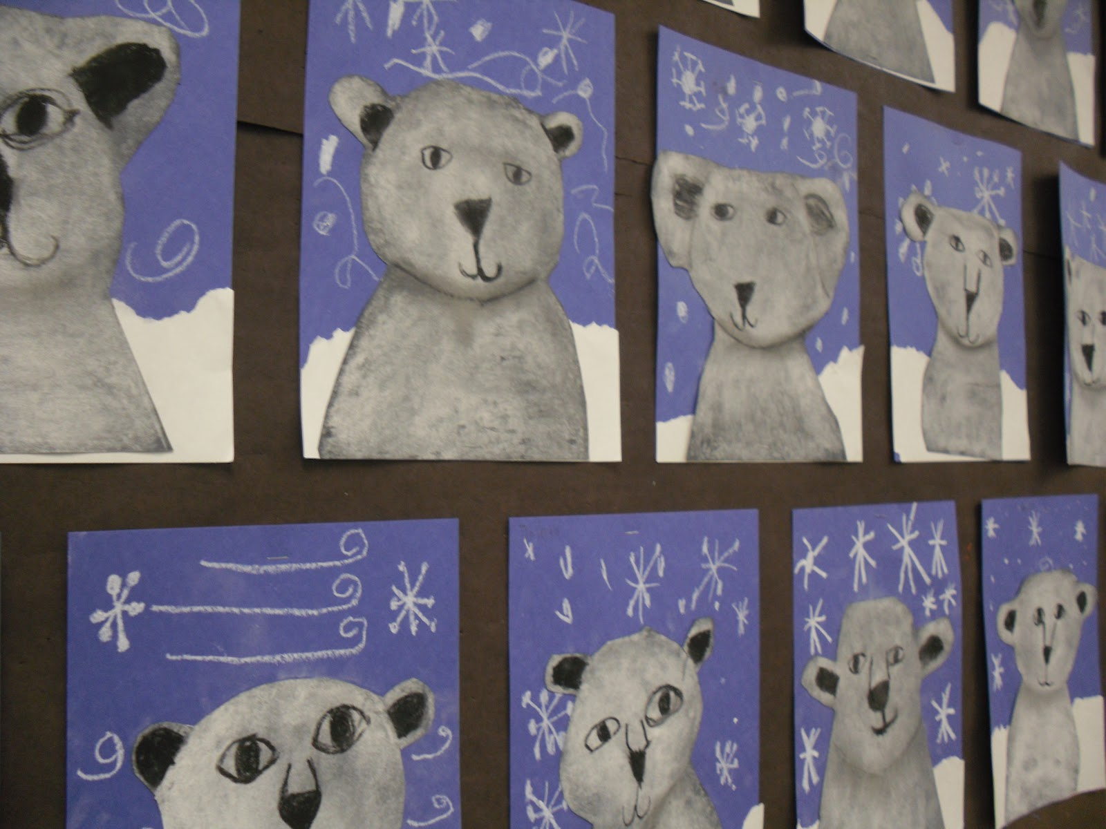 Polar Bear Ideas - create this fantastic Polar Bear Art with the kids. ADORE!