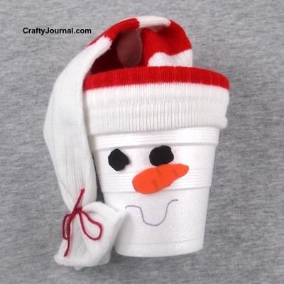 easy gift box - snowman gift box