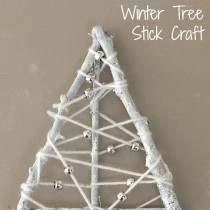 Winter Tree Craft – Yarn Wrapped Sticks