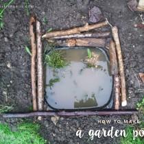 Make a mini garden pond