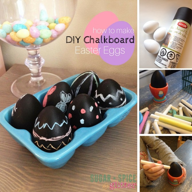 Egg Decorating – DIY Chalk Board Eggs