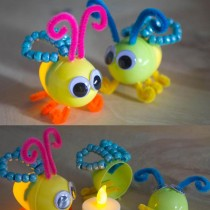 Light Up Lightening Bugs from Plastic Eggs