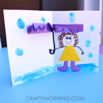 3D umbrella DIY card