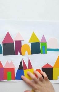 DIY Paint Chip Village