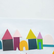 DIY Paint Chip Village