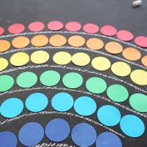 DIY Rainbow Sort and Count Game