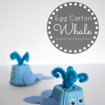 Egg Carton Craft Whale