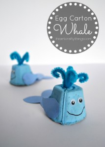 Egg Carton Craft Whale