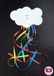 Paper Cloud Ribbon Rainbow