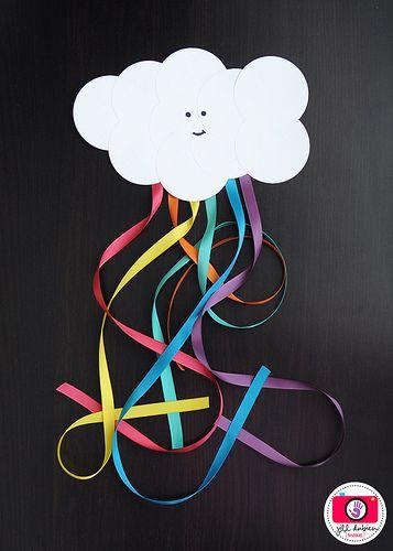 Paper Cloud Ribbon Rainbow