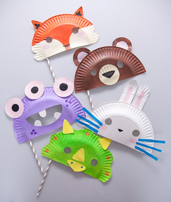 Paper plate masks Paper Plate Masks - animal masks for kids to make & Paper Plate Masks! - Fun Crafts Kids