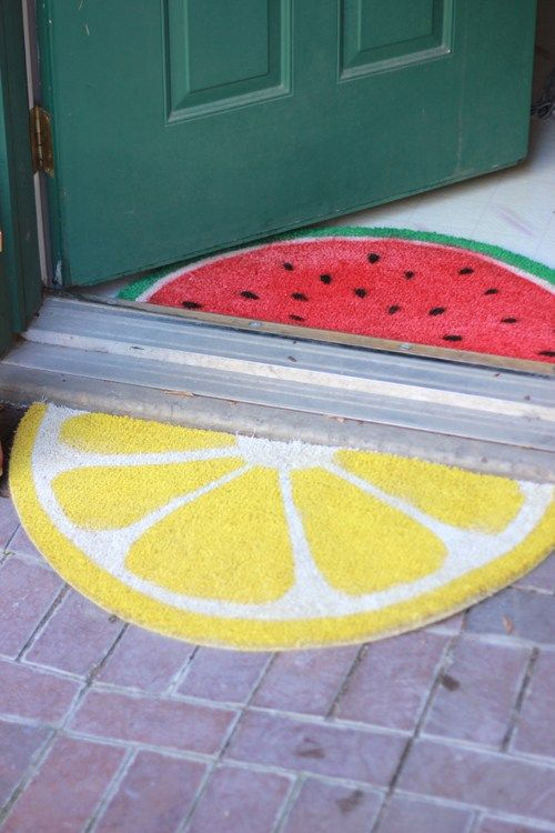 citrus DIY front door mat