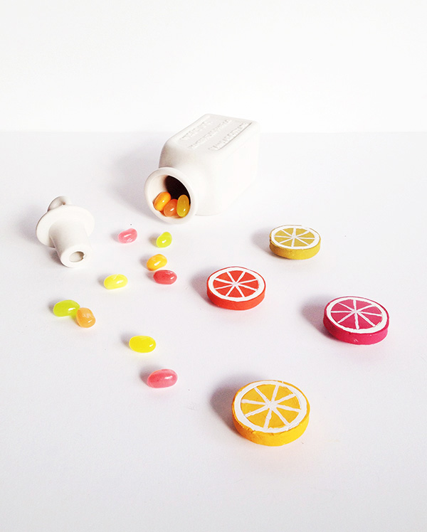 citrus DIY magnets