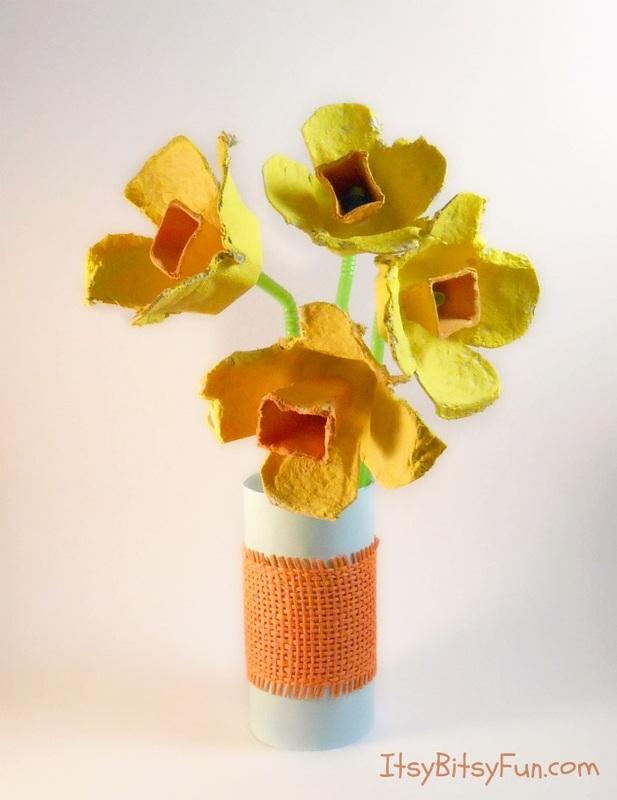 Egg Carton Daffodils