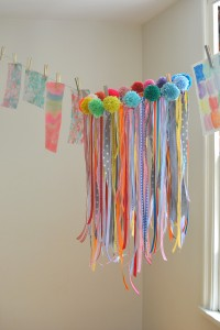 Make your own ribbon chandelier
