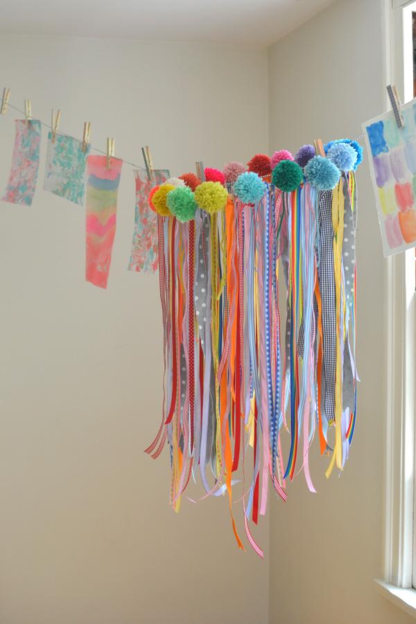 Make your own ribbon chandelier fun crafts kids for Chandelier craft ideas