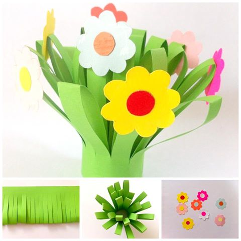 Paper flower bouquet fun crafts kids paper flower bouquet mightylinksfo