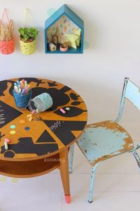 Blackboard Paint Table