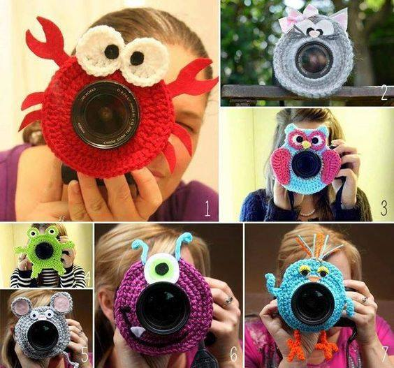 Crochet DIY Lens Friends Patterns - great for kids photography