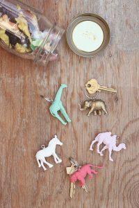 DIY animal keychain