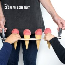 DIY Ice Cream Cone Tray