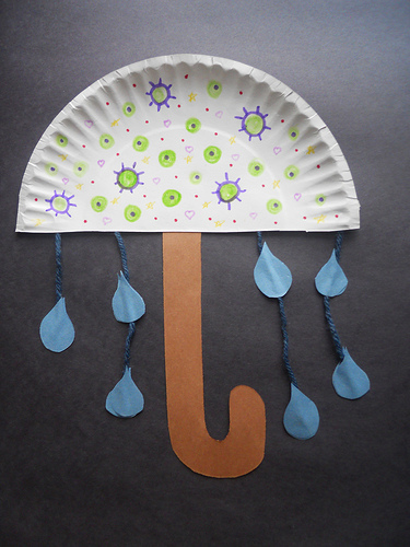 Paper Plate Umbrella & Paper Plate Umbrella - Fun Crafts Kids