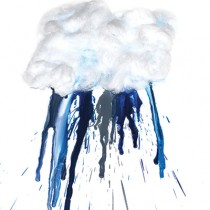 melted crayons rain cloud