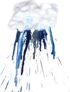 melted crayons raincloud