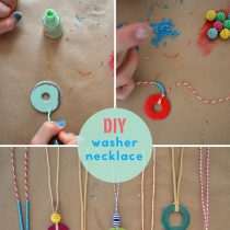 Nail Polish Washer Necklace