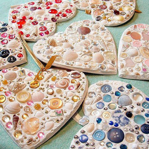 Sea Shell & Button Ornaments