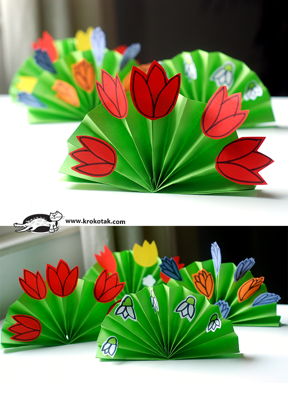 Spring Paper Flowers Fun Crafts Kids