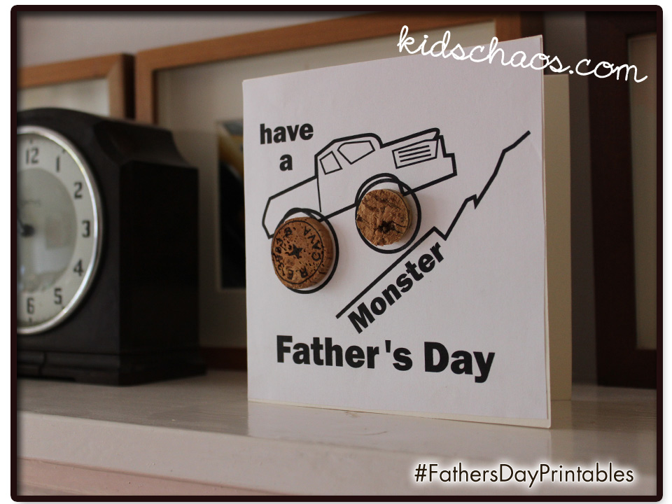 Cork Fathers Day Card