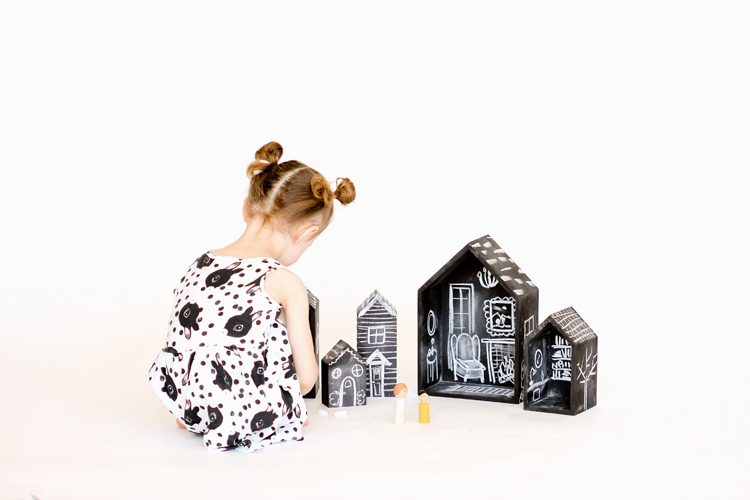 Chalkboard Dolls House DIY - what a fabulously adorable idea!