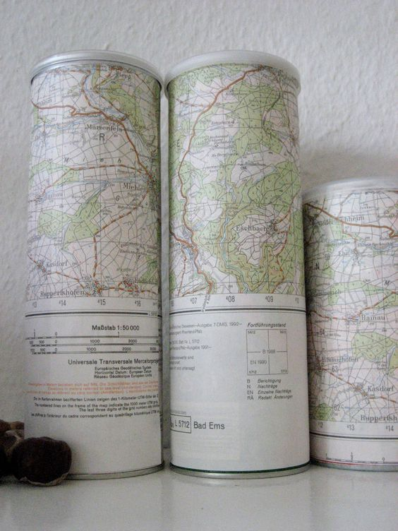 Pringle Pot Makeover with map
