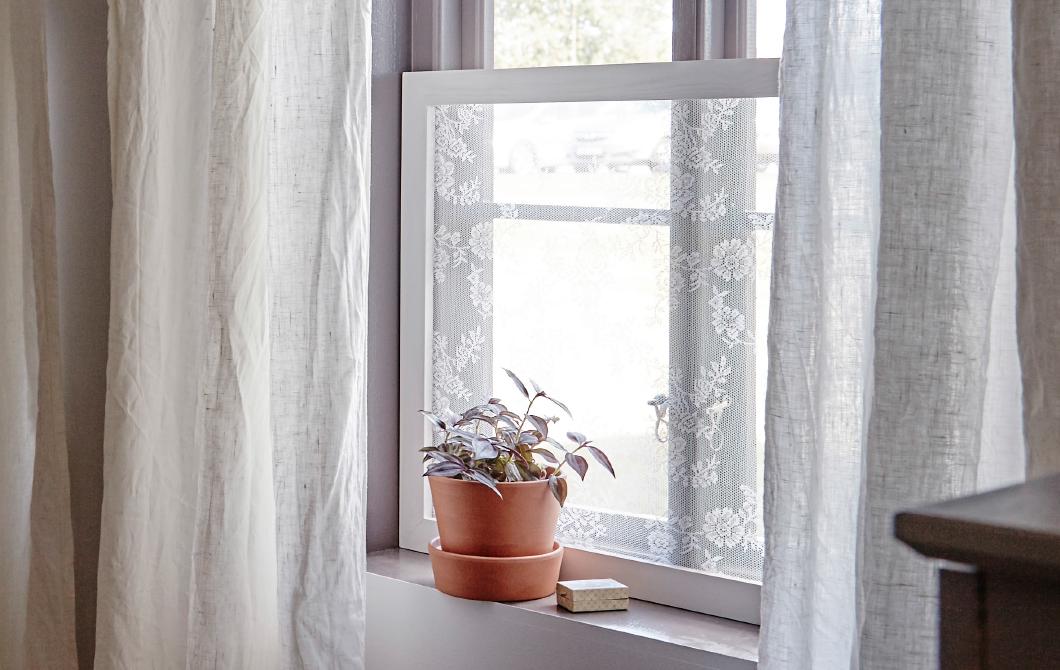 DIY Window privacy frame