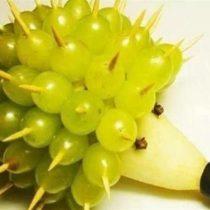 Pear & Grape Hedgehog DIY