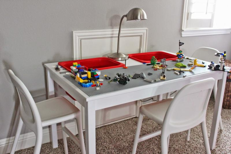 Lego ikea table hack fun crafts kids for Table lego ikea