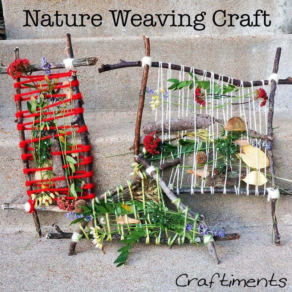 nature weaving camping craft