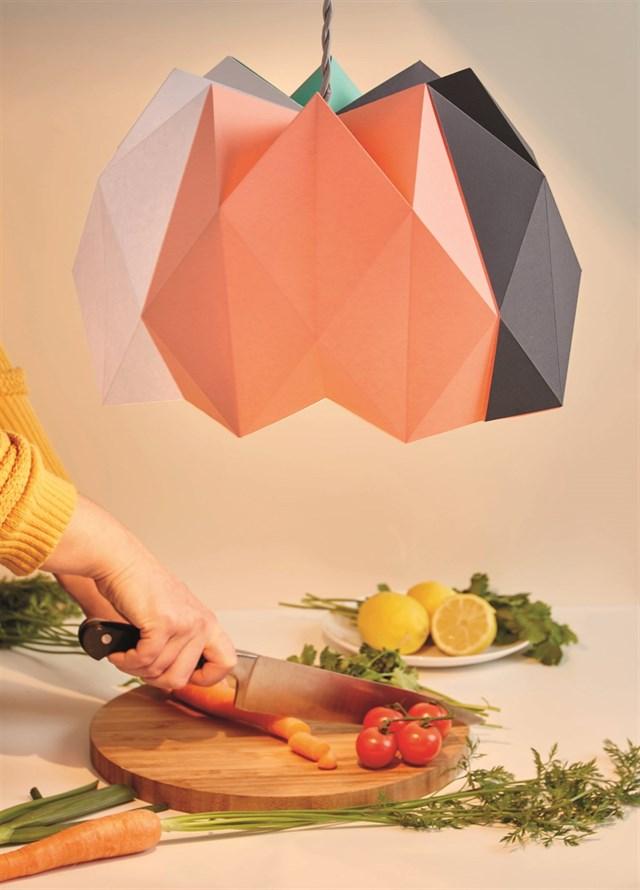 DIY Paper Lampshade Origami