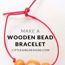 How to make a Wooden Bead Bracelet