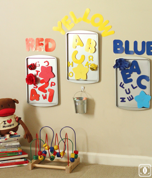 Toddler color sorting boards