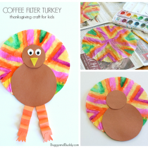 Coffee Filter Turkey Craft for Kids