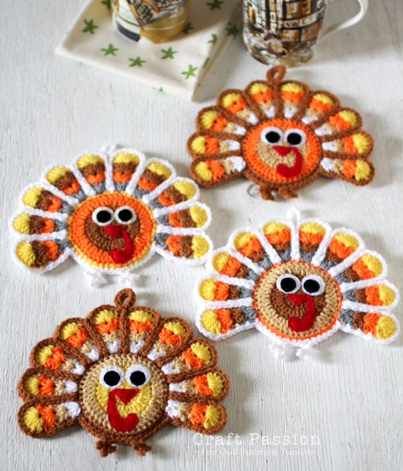 crochet-turkey-coaster
