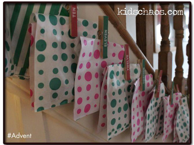 Kids Craft Advent Calendar : Advent calendar clothes pin fun crafts kids