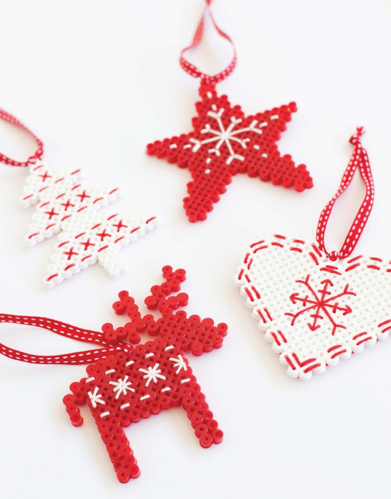 Scandi Hama Bead Ornaments - Fun Crafts Kids