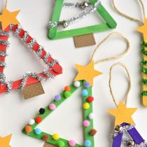 Popsicle Tree Ornaments