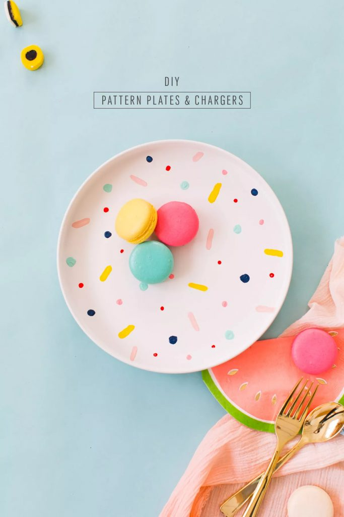 Cotton Bud painted plates