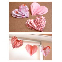 Paper Heart decorations DIY garland