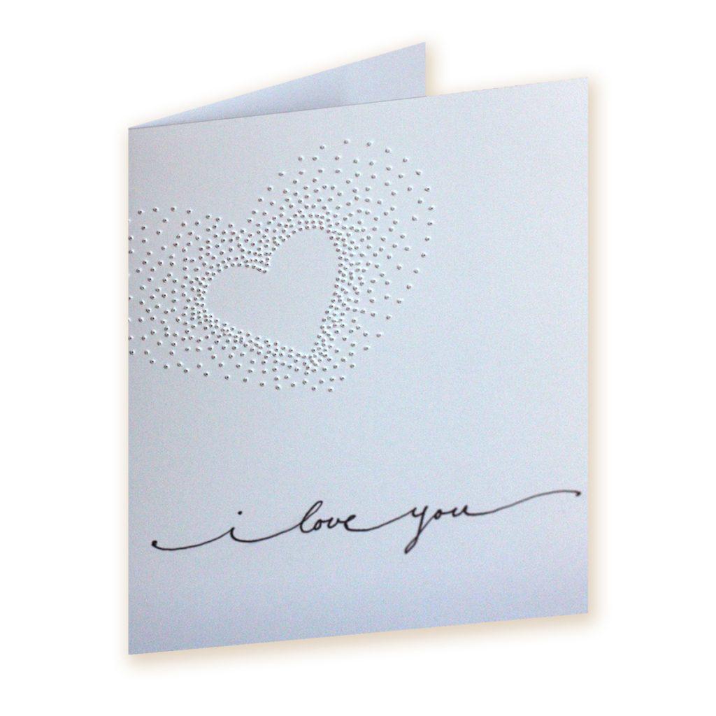 Pinhole Heart Valentines Card DIY