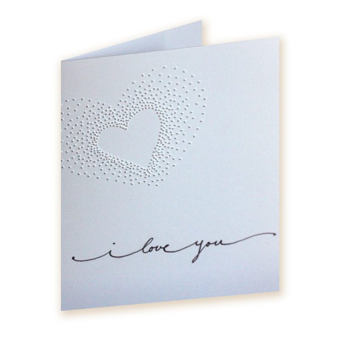 Pinhole Heart Valentines Card DIY